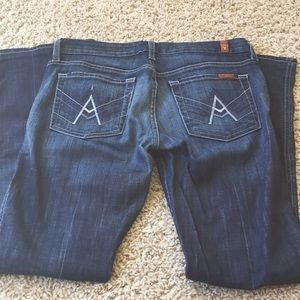 7 For All Mankind 7FAM A Pocket Jeans 27 2 4 EUC